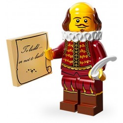 Lego Minifig Serie 12 71004 - THE LEGO MOVIE William Shakespeare (La Petite Brique)