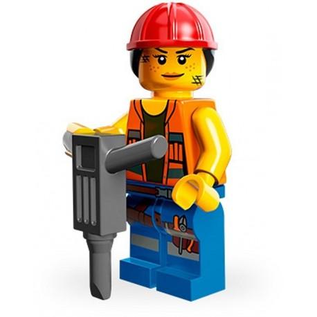 Lego Minifig Serie 12 71004 - THE LEGO MOVIE Gail Travailleuse de la construction (La Petite Brique)