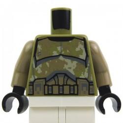 Lego Accessoires Minifig Torse Star Wars Vert Olive Camouflage Kashyyyk Clone Trooper (La Petite Brique)