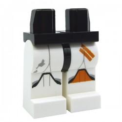 Lego Accessoires Minifig - Jambes - Clone Trooper Genouillère Orange (Star Wars) (La Petite Brique)
