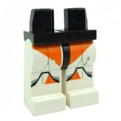 Lego STAR WARS Minifig Jambes - Clone Trooper Marquages Orange (Star Wars) (La Petite Brique)