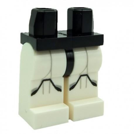 Lego Legs Pants White Black Hips Clone Trooper MINIFIGURE MINIFIG Star Wars