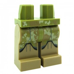 Lego STAR WARS Minifig Jambes - Clone Trooper Camouflage Vert Olive (Star Wars) (La Petite Brique)