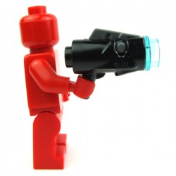 Black Minifig, Weapon Gun, Blaster Mini with Trigger (SW)