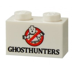 Ghosthunter Brick (1 x 2 White)