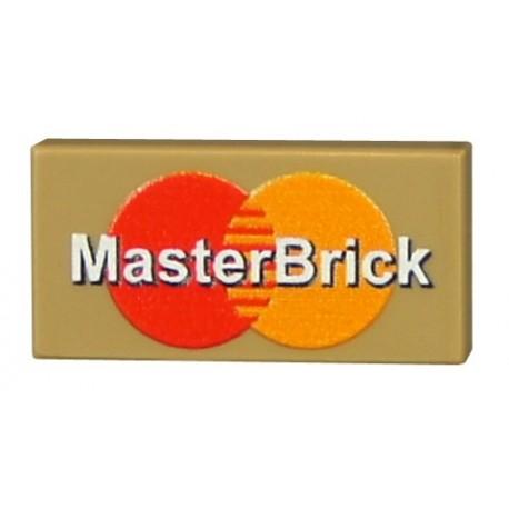 Lego Accessoires Minifig CUSTOM BRICKS Master Brick (Tan) (La Petite Brique)