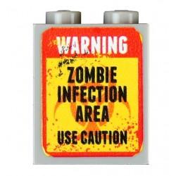 Lego Accessoires Minifig CUSTOM BRICKS Zombies Infection Area (brique 1 x 2 x 2) (La Petite Brique)