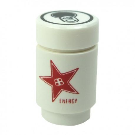 Lego Accessoires Minifig CUSTOM BRICKS Canette de Soda, Brickstar Energy Drink (Rouge) (La Petite Brique)