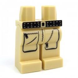 Lego Accessoires Minifig CUSTOM BRICKS Explorer Cargo Pants (Tan) (La Petite Brique)