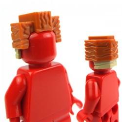 Lego Accessoires Minifig Cheveux carrés (Dark Orange) (La Petite Brique)