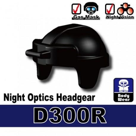 Lego Accessoires Minifig Si-Dan Toys Casque Night Optics D300R (noir) (La Petite Brique)