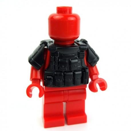 Lego Accessoires Minifig Si-Dan Toys Tactical Vest BR1 (noir) (La Petite Brique)