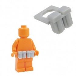 Lego Accessoires Minifig BRICKFORGE Ammo Pouch (Light Bluish Gray) (la paire) (La Petite Brique)