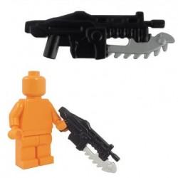 Lego Accessoires Minifig BRICKFORGE Shredder Gun - Black (silver blade) (La Petite Brique)