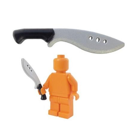 Lego Accessoires Minifig BRICKFORGE Kukri - Black (silver blade) (La Petite Brique)