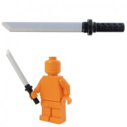 Lego Accessoires Minifig BRICKFORGE Ninjato - Black (silver blade) (La Petite Brique)