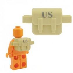 """Lego Accessoires Minifig BRICKFORGE Sac """"US"""" (beige) (La Petite Brique)"""