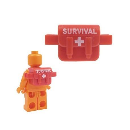"""Lego Accessoires Minifig BRICKFORGE Sac de """"Survie"""" (rouge) (La Petite Brique)"""