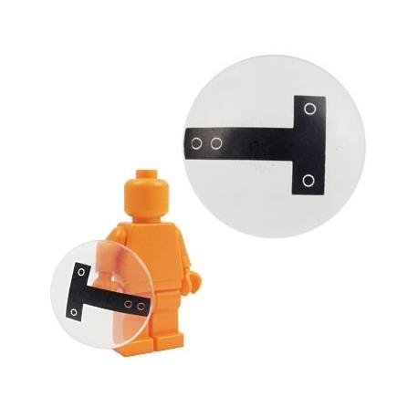 Lego Accessoires Minifig BRICKFORGE Bouclier rond (transparent) (La Petite Brique)