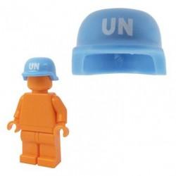 Lego Accessoires Minifig BRICKFORGE Casque Militaire (ONU - Bleu moyen) (La Petite Brique)