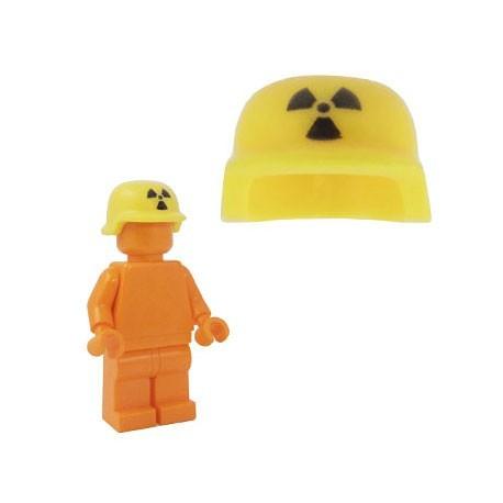 Lego Accessoires Minifig BRICKFORGE Casque Militaire (Radioactif - Jaune) (La Petite Brique)