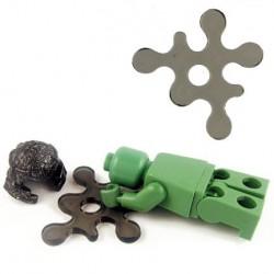 Lego Accessoires Minifig BRICKFORGE Eclaboussure, Liquide (noir transparent) (La Petite Brique)