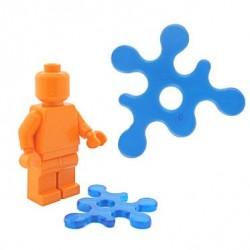 Lego Accessoires Minifig BRICKFORGE Eclaboussure, Liquide (bleu foncé transparent) (La Petite Brique)