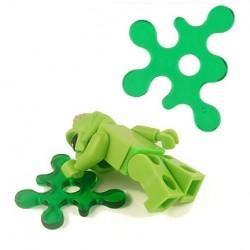 Lego Accessoires Minifig BRICKFORGE Eclaboussure, Liquide (vert transparent) (La Petite Brique)