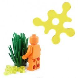 Lego Accessoires Minifig BRICKFORGE Eclaboussure, Liquide (jaune transparent) (La Petite Brique)