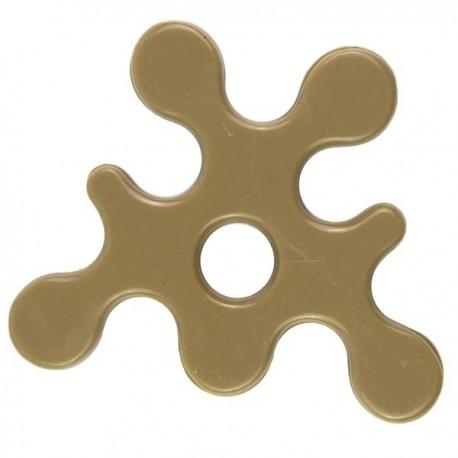 Lego Accessoires Minifig Custom BRICKFORGE Eclaboussure, Liquide (beige foncé) (La Petite Brique)