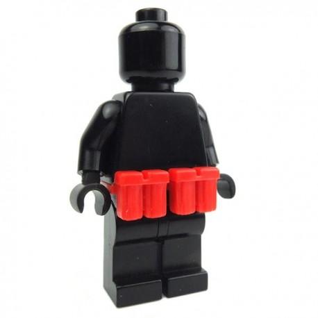 Lego Accessoires Minifig Custom BRICKFORGE Ammo Pouch (rouge) (la paire) (La Petite Brique)