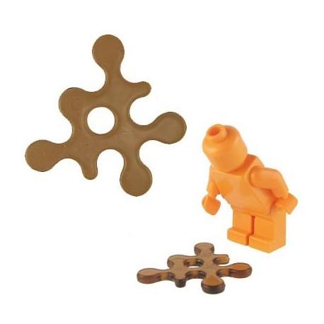 Lego Accessoires Minifig BRICKFORGE Eclaboussure, Liquide (marron transparent) (La Petite Brique)
