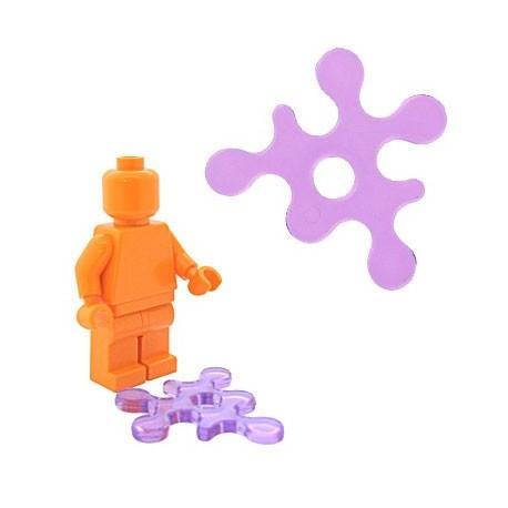 Lego Accessoires Minifig BRICKFORGE Eclaboussure, Liquide (pourpre transparent) (La Petite Brique)