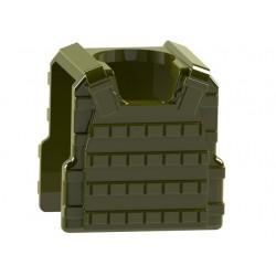 """Lego Accessoires Minifig COMBAT BRICK Bulletproof vest with stud (vert """"militaire"""") (La Petite Brique)"""