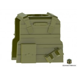 Reversable Vest with PMags and clip (Military Green)