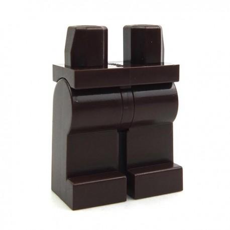 Lego Accessoires Minifig Jambes (marron foncé) (La Petite Brique)