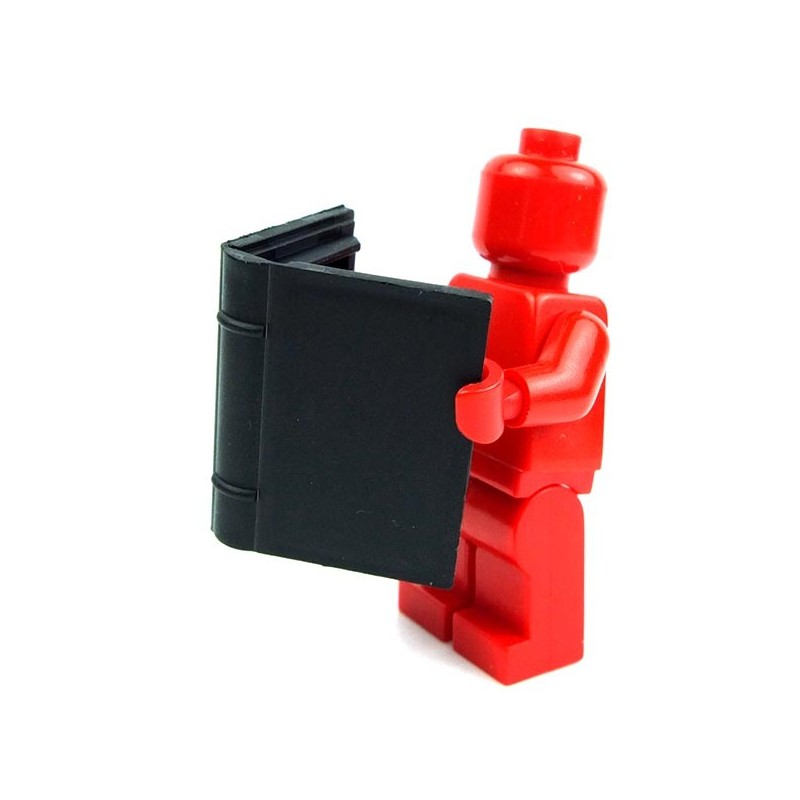 lego minifig accessories utensil black book 2 x 3 la petite brique. Black Bedroom Furniture Sets. Home Design Ideas