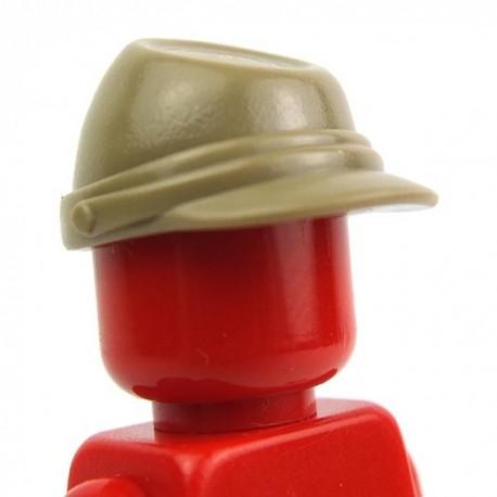 Lego Accessoires Minifig Casquette Militaire - Kepi (Beige foncé) (La Petite Brique)