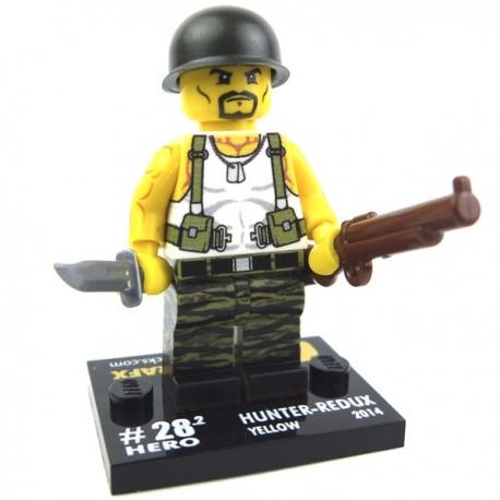 Lego Custom Minifig eclipseGRAFX Hunter Redux (Jaune) (La Petite Brique)
