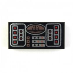Lego Accessoires Minifig Avionics SW Copper - Tile 1 x 2 (La Petite Brique)