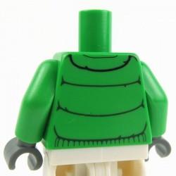Lego Accessoires Minifig Torse - Blouson (Bright Green) (La Petite Brique)