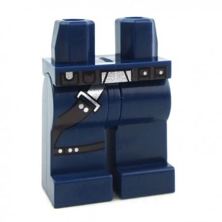 Lego Accessoires Minifig Jambes avec holster (Dark Blue) (La Petite Brique)