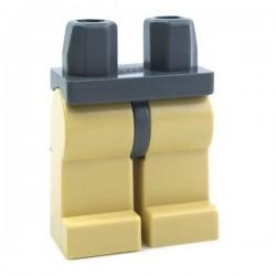 Lego Accessoires Minifig Jambes beiges, ceinture Dark Bluish Gray (La Petite Brique)