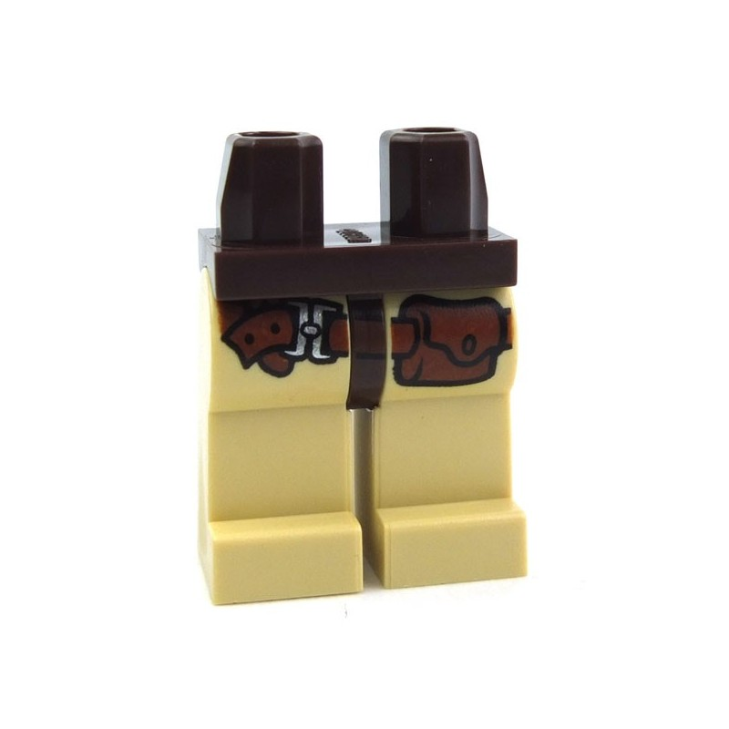 LEGO Dark Orange Minifigure Legs with Tan Hips