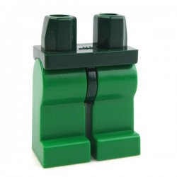 Lego Accessoires Minifig Jambes Dark Green, ceinture verte (La Petite Brique)