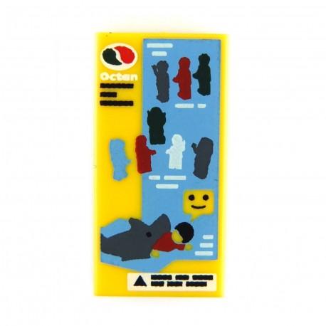 Lego Accessoires Minifig Silhouettes minifig, requin - Tile 1 x 2 (La Petite Brique)