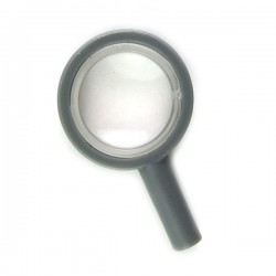 Dark Bluish Gray Magnifying Glass with Trans-Clear Lens