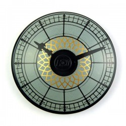 Black Dish 4 x 4 Inverted (Radar) with Clock Face