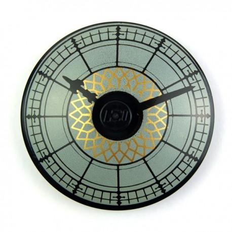 Lego Accessoires Minifig Horloge (Dish 4x4) (La Petite Brique)