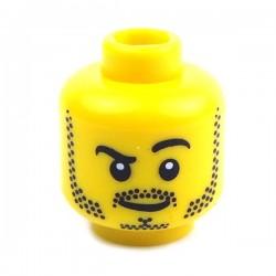 Lego Minifig Tête masculine jaune, 48 (La Petite Brique)